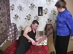 Horny Granny Seduces Young Cock