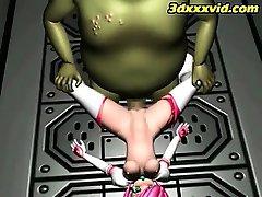 3D-Teen Naturlig Slav! - Fly - Monster Knulla