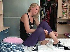 Sporty Teen Having Morning Exercises