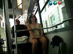 French upskirt Bus Nice