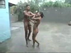 Indian Rainy outdoor Sex