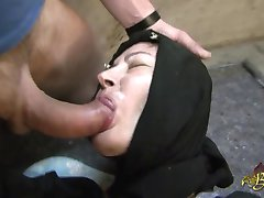 Hijabi muslim getting fucked in both holes