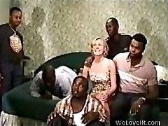 Ebony Gangbang White