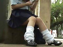 Okullu Kızlar Underpanties
