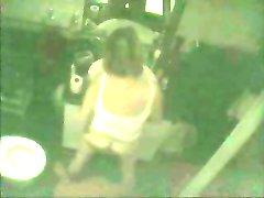 Hidden cam caught milf fingering in front of mirror