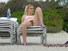 Voyeurchamp.com -Public Upskirt Exhibitionist Wife Amanda!