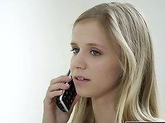 BLACKED Petite blonde teen Rachel James first big black cock