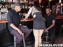 Big mounds and ass latina MILF hammered hard by intense BBCs