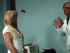 Awesome blonde disguised as a nurse part1