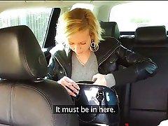FakeTaxi - Blonde in taxi blowjob