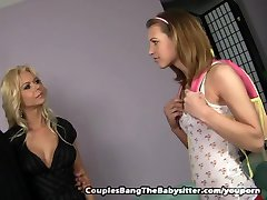 Teen Babysitter Hooks Up With Kinky Couple