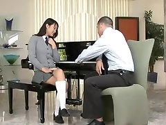 Cute asian schoolgirl Evelyn Lin passionately fucks