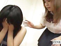 Subtitled Japanese ENF nudist schoolgirl in classroom