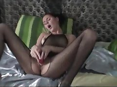 bodystockings gf toying her sweet pussy