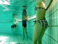 french 45 yo great body playing with jets at pool