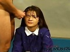 Bukkake Highschool Lesson 13 4/4 Japanese uncensored blowjob