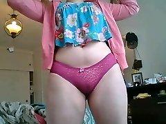 5:50 Orgasmo Gordita rubia adolescente tetas grandes culona pendeja