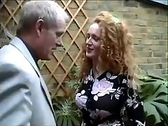 English redhead Nicole gets caught smoking a joint