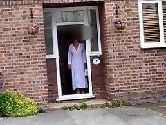 Susan at the front door