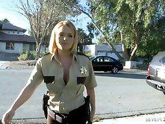 Brazzers - Big-tit blond Krissy Lynn fucks cop in uniform