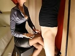 Harness High-heeled Shoes Nylons &  Satin Domina