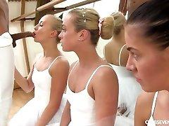 Cayla Lyons, Evelyn Dellai, Vinna Reed Pleasuring the ballet tutor