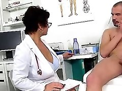 Filthy czech cougar Gabina is wild doctor in cfnm action