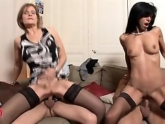 French MILF swingers four way