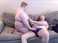 Fat couple making out, PLUS-SIZE, BHM, Bear Chub