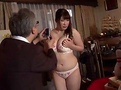 Horny Japanese superslut Chitose Saegusa in Wild public, striptease JAV video