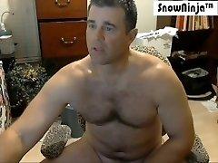 Straight Married Kinky Dad Webcam Cum