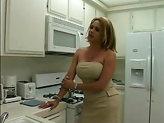 Sexy ash-blonde she-creature gets her long thick cock sucked