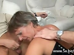 Mighty gangbang with a supreme French mature
