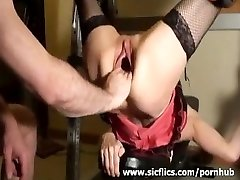 Brutally fisting Rachels wide open pussy