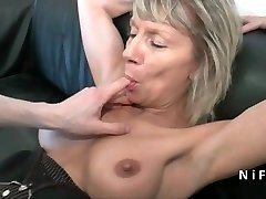Squirt french mature hard analized for her audition couch