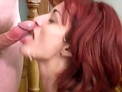 Mature housewife and youthful boy