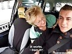 Czech Mature Blonde Hungry for Taxi Drivers Fuck-stick