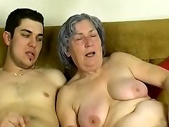 OmaPass Young guy fuck very old granny with her gf