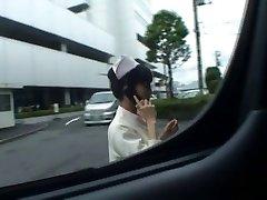Super sexy Japanese nurses inhaling