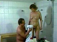 German mummy getting boned in the bathroom