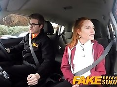 Faux Driving School Ultra-cute redhead Ella Hughes
