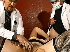 Phat French mature gets weird assfuck insertions