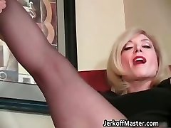 Trampy blond mum with big hooters part4