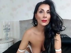 Raven Haired Cougar Teases