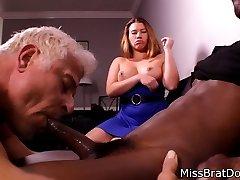 Ac/dc Husband Sucks Black Man Sausage for Femdom Wife