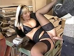 Dina Pearl Anally Ravaged In Ebony Lingerie