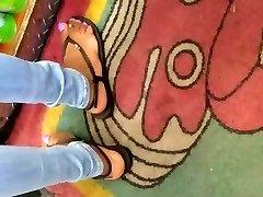 Candid ebony soles purple toes 3