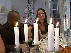 Xxx Christmas dinner orgy