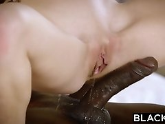 BLACKED Red-haired Kimberly Brix Very First Big Black Cock
