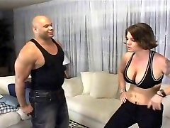 Insatiable babe wrestles a black cock